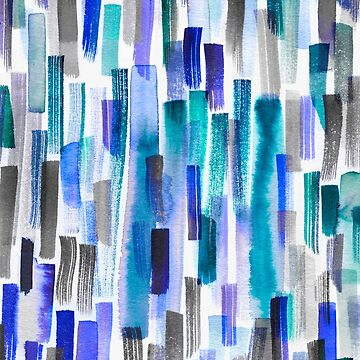 Blue brushstrokes by ninoladesign