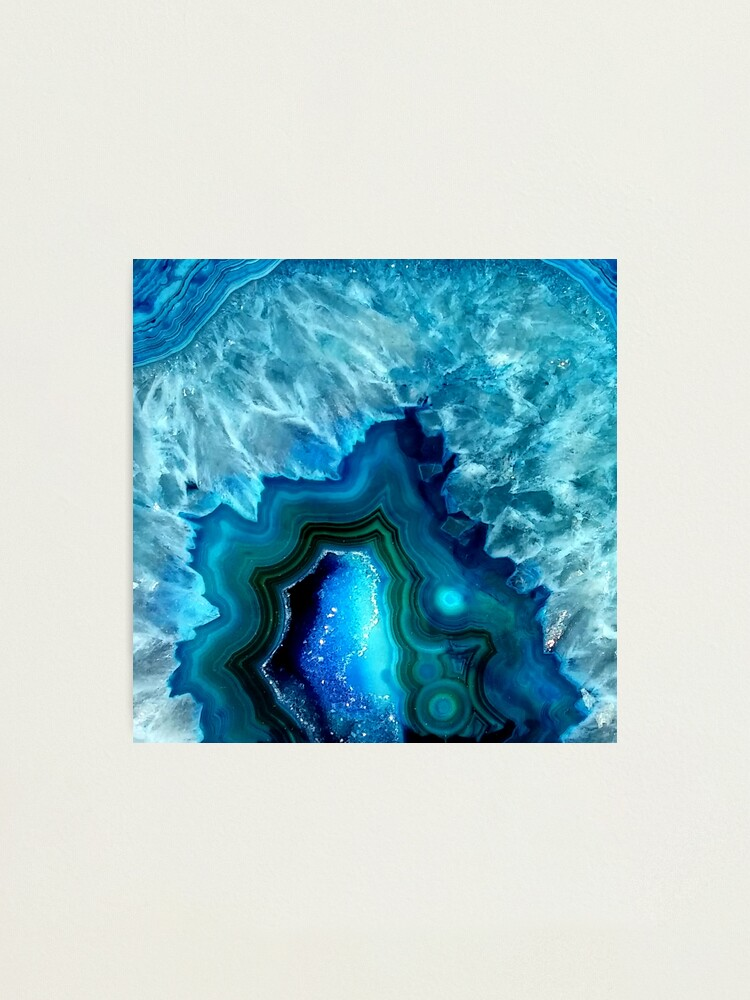 Alternate view of Teal Blue Agate Photographic Print