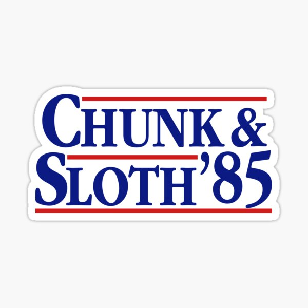 The Goonies Funny Chunk and Sloth Election Sticker