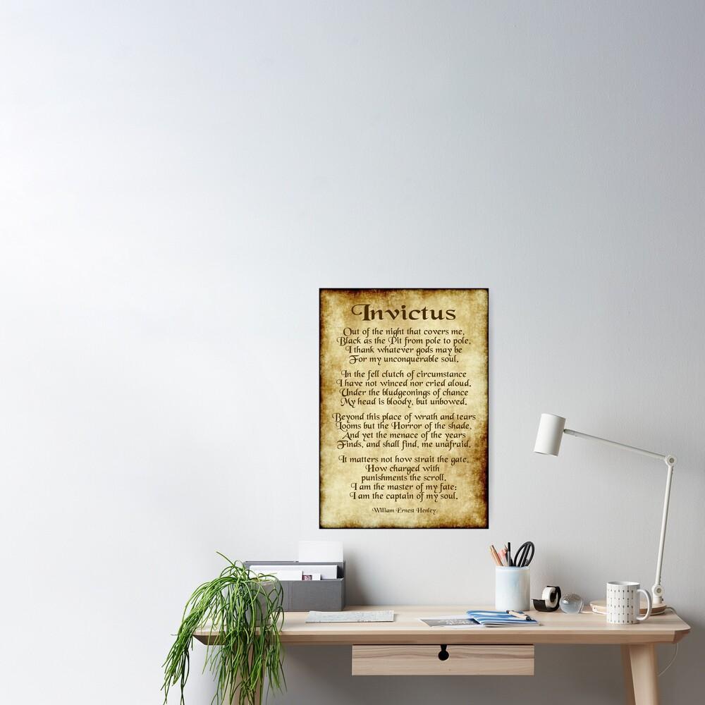 Invictus - Old Parchment Design Poster