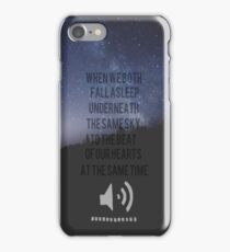 Beside You Lyrics 5sos iPhone Case/Skin