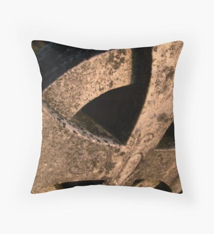 Cemetary Headstone Close-up Throw Pillow