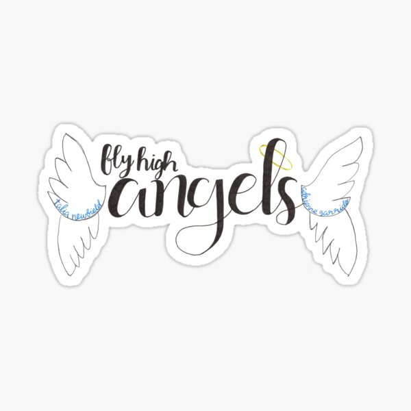 Fly High Angels Sticker