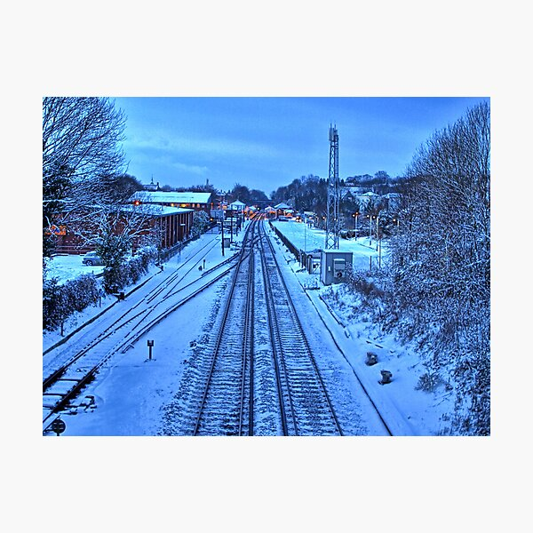 Snow Train to Nowhere Photographic Print