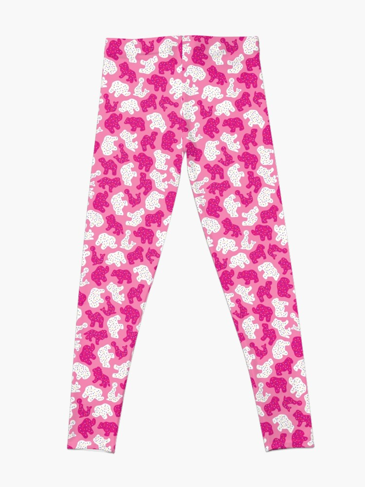 Alternate view of Pink Frosted Animal Cookies Leggings