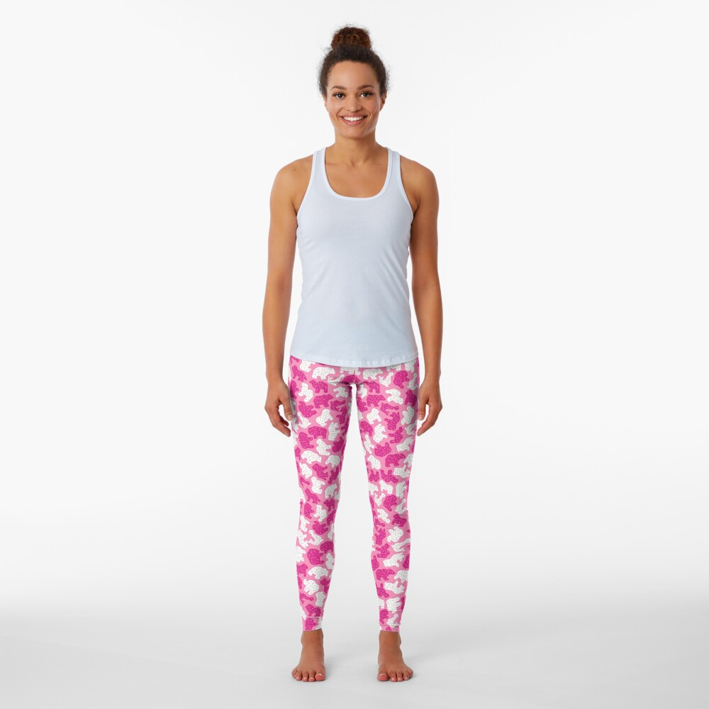 Pink Frosted Animal Cookies Leggings