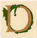 "Oscar & the Roses ""D"" (Illuminated Alphabet Sold) by Donna Huntriss"