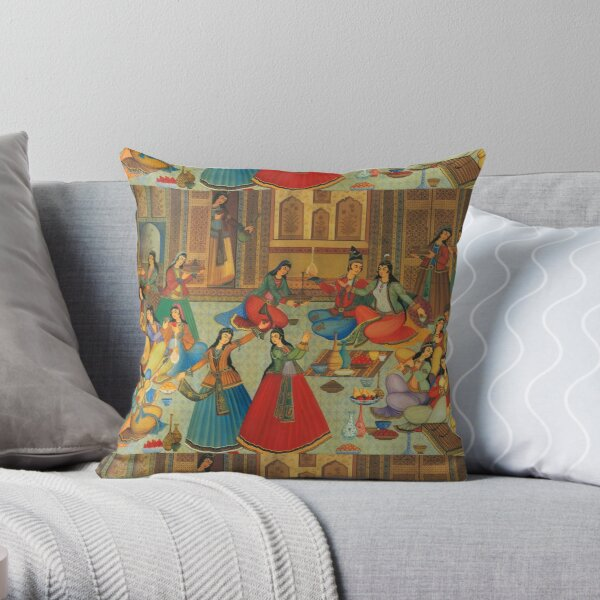 Persian ladies Dance Throw Pillow