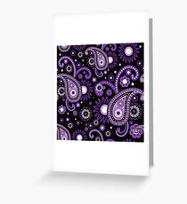 Violet and purple paisley Greeting Card