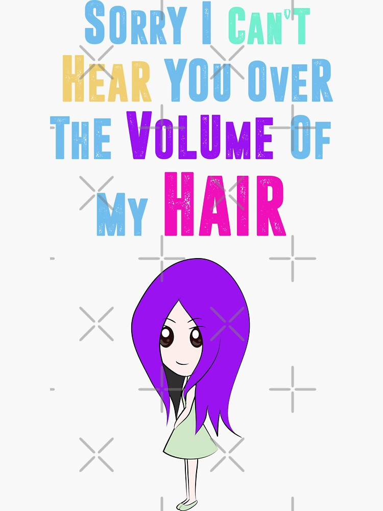 Big Hair Dont Care Funny Hair Volume No Control Novelty Quote by thespottydogg
