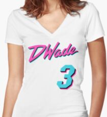 Vice Wade Jersey Script 1 Women's Fitted V-Neck T-Shirt