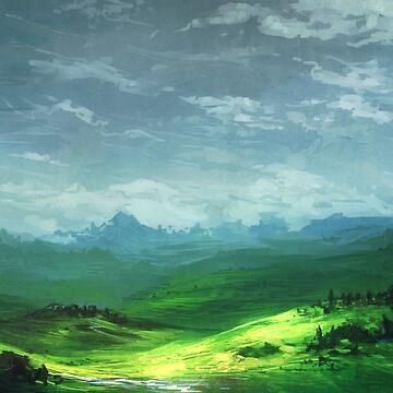 Jagged Grasslands by Vielmond