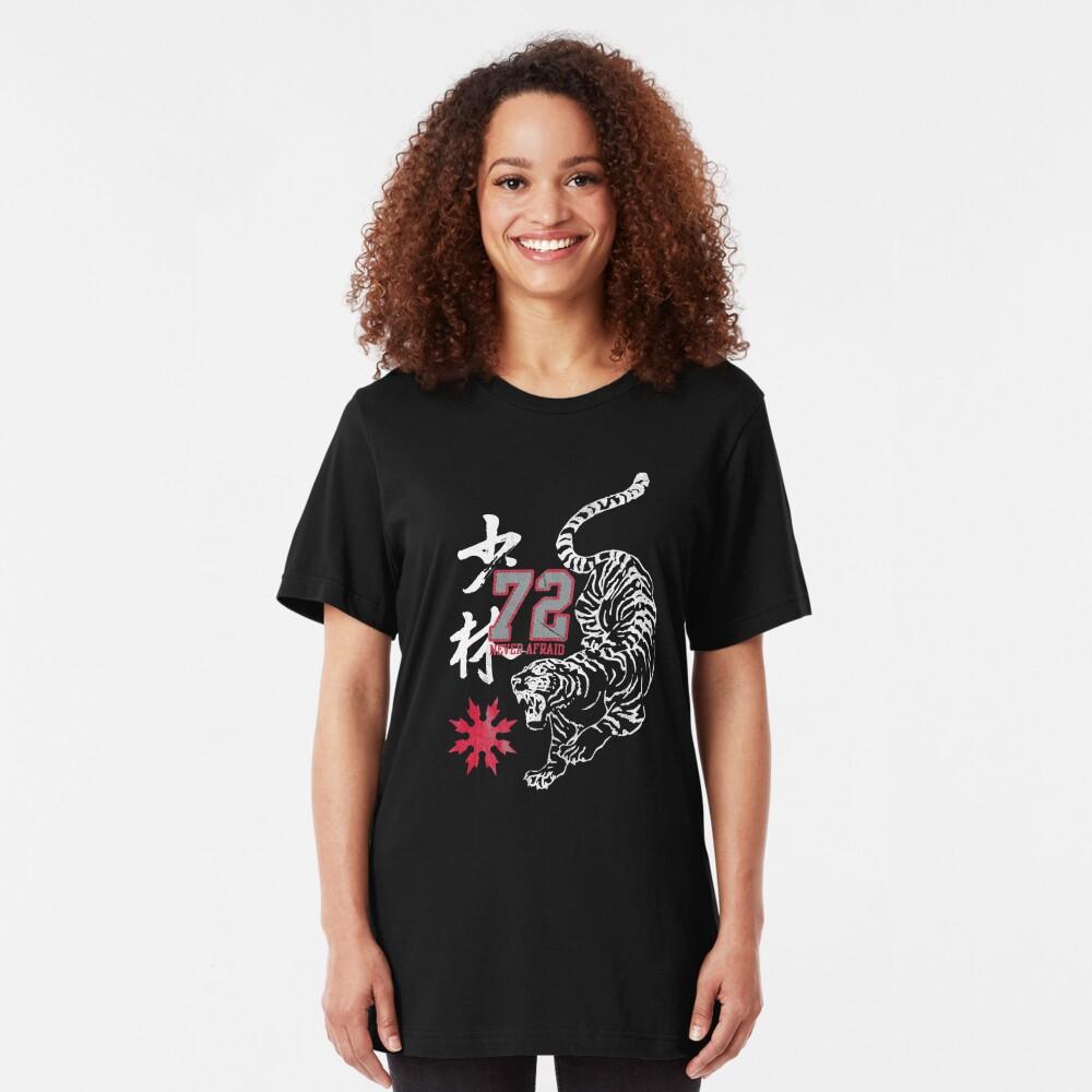 Karate Oriental Tiger Gym Vintage Martial Arts Kanji Slim Fit T-Shirt