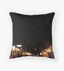 Bourbon Streetscape By Night Throw Pillow