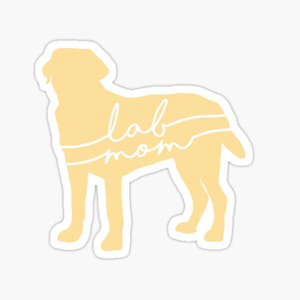 Yellow Lab Mom Sticker