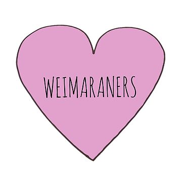 Weimaraner Love by Bundjum