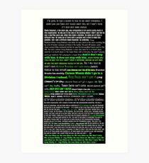 Eagles Jason Kelce Speech Art Print