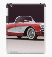 1958 Chevrolet Corvette Convertible 'Studio I' iPad Case/Skin