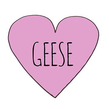 Geese Love by Bundjum