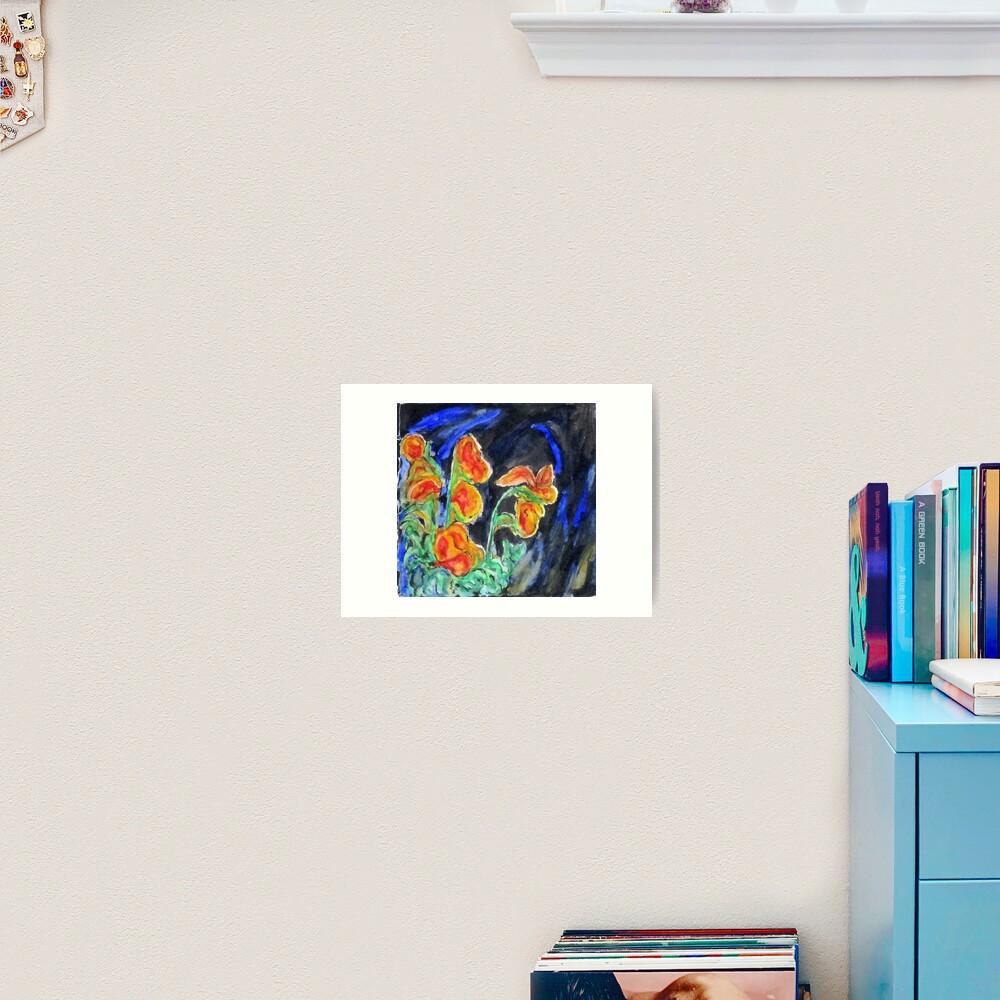 Flowers Of Glass Art Print