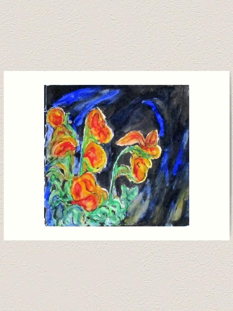 Alternate view of Flowers Of Glass Art Print