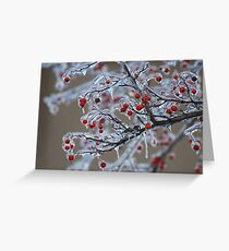 Icy Winter Greeting Card