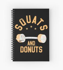 Squats and Donuts, Doughnut Gym and Workout Retro Spiral Notebook