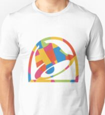 Multicolor Abstract Taco Bell Logo Unisex T-Shirt