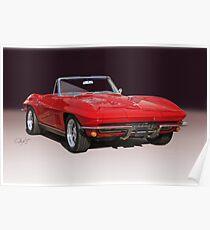1967 Chevrolet Corvette Convertible Poster