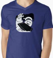 STAY PUFT ATTACK - 0293 Men's V-Neck T-Shirt