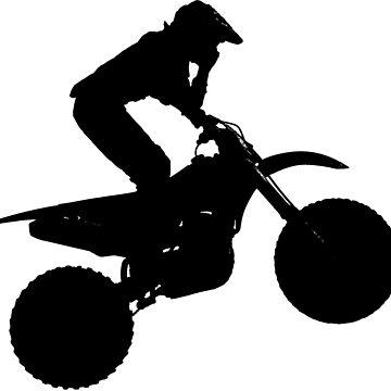 Motocross Racer Silhouette by NaturePrints