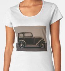 Morris Minor Saloon 1928 Painting Women's Premium T-Shirt