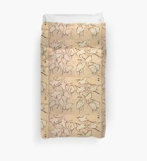 Egrets from Quick Lessons in Simplified Drawing, Hokusai, 1823 Duvet Cover