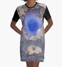 The Metaphysical Head Graphic T-Shirt Dress