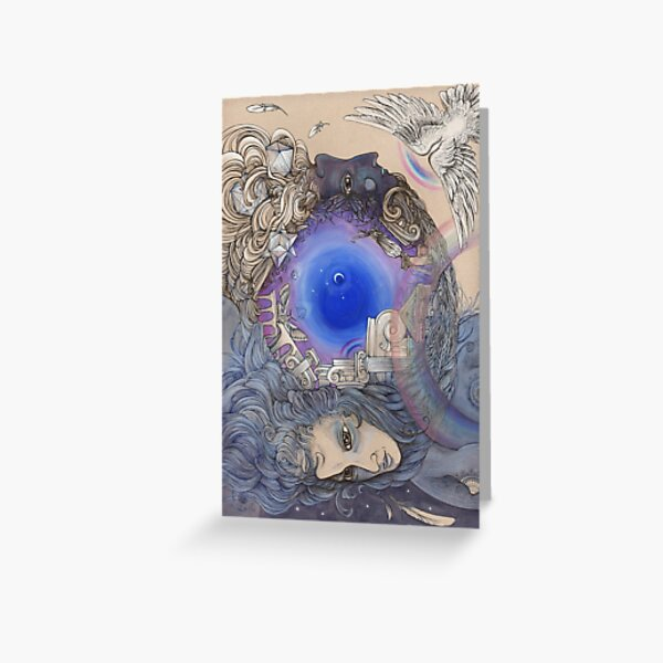 The Metaphysical Head Greeting Card