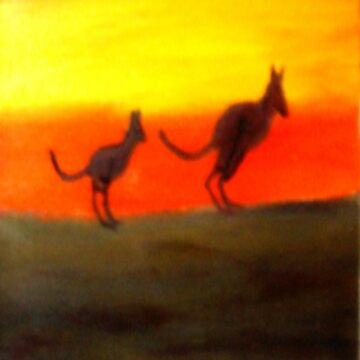 Roos @ Sunset, Australia.  by chrisjoy