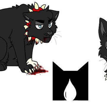 Scourge (red) collar sticker set by deepfriedmeme