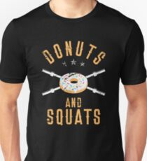 Donuts and Squats T-Shirt, Funny Workout Powerlifter Tee Unisex T-Shirt