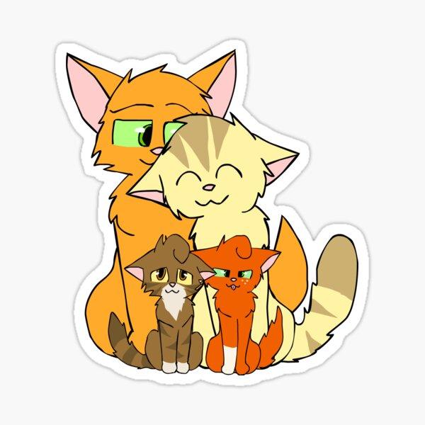 La famille heureuse d'Étoile de Feu Sticker