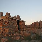 Moon Over the Stone Shelter by Asoka