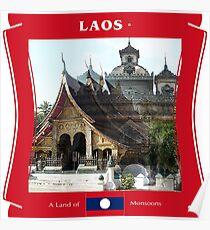 Laos - Ein Land der Monsune Poster