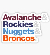 Denver Sports Teams Sticker