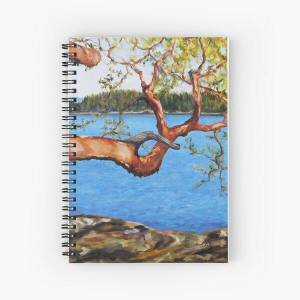 Arbutus Tree Reaching Spiral Notebook