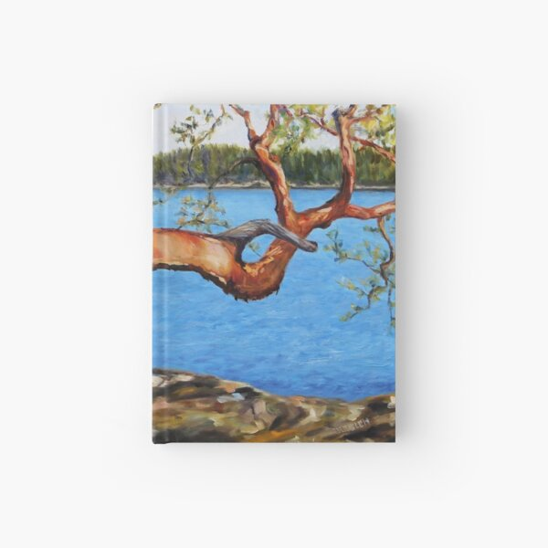Arbutus Tree Reaching Hardcover Journal