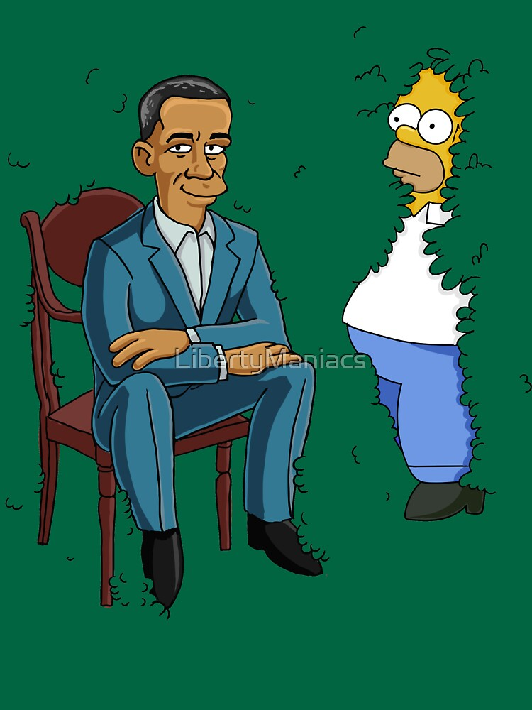 Obama Presidential Portrait Parody Featuring Homer and the Bush by LibertyManiacs