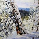 detail Winter with Old Fir on the Ridge by TerrillWelch