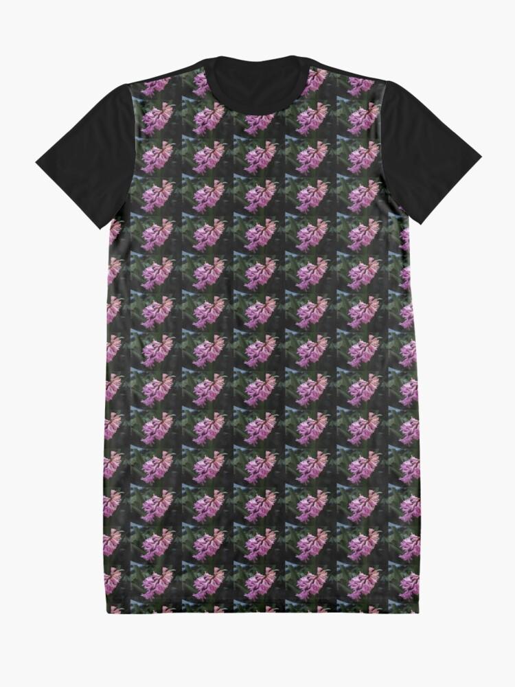 Alternative Ansicht von Parfümierte rosa Hyazinthe T-Shirt Kleid