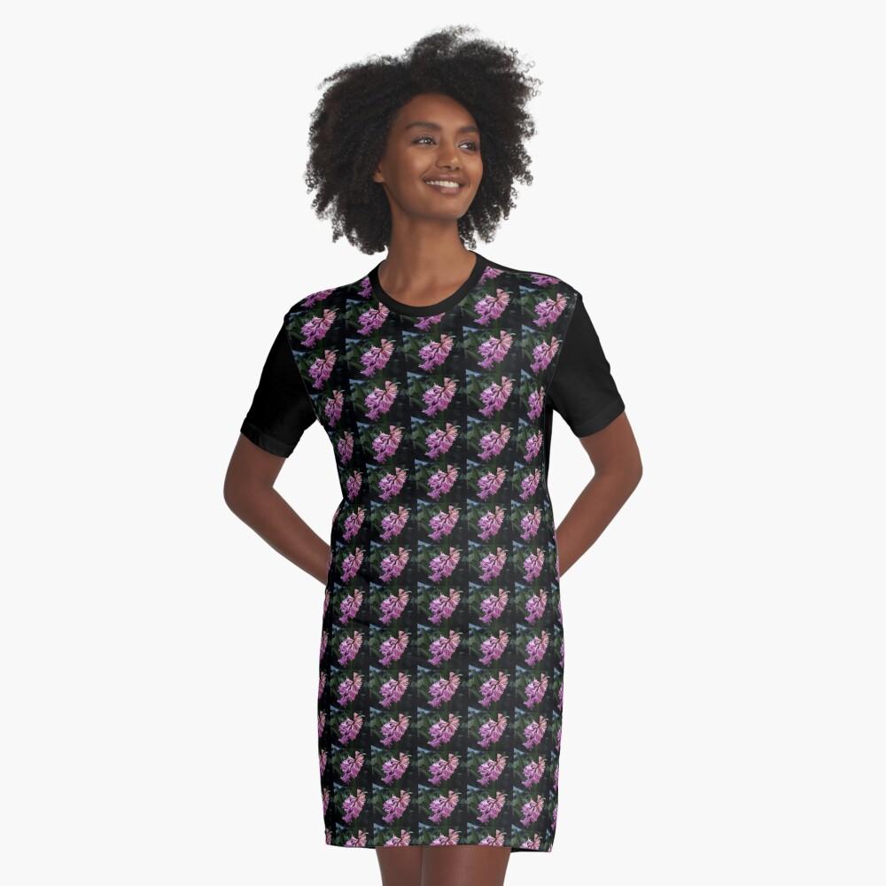 Parfümierte rosa Hyazinthe T-Shirt Kleid