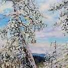 Winter with the Old Fir on the Ridge by TerrillWelch