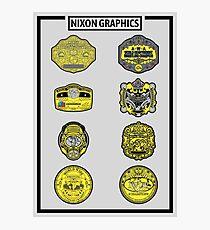 Nixon Graphics - Classic Belt Collage Photographic Print